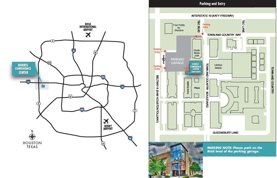 Venue City Centre Houston Map on